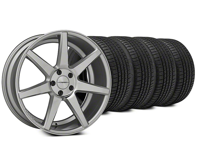 Vossen CV7 Silver Polished Wheel & Michelin Pilot Sport A/S 3+ Tire Kit - 20x9 (15-18 All)