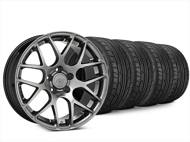 AMR Dark Stainless Wheel & NITTO NT555 G2 Tire Kit - 20x8.5 (15-17 All)