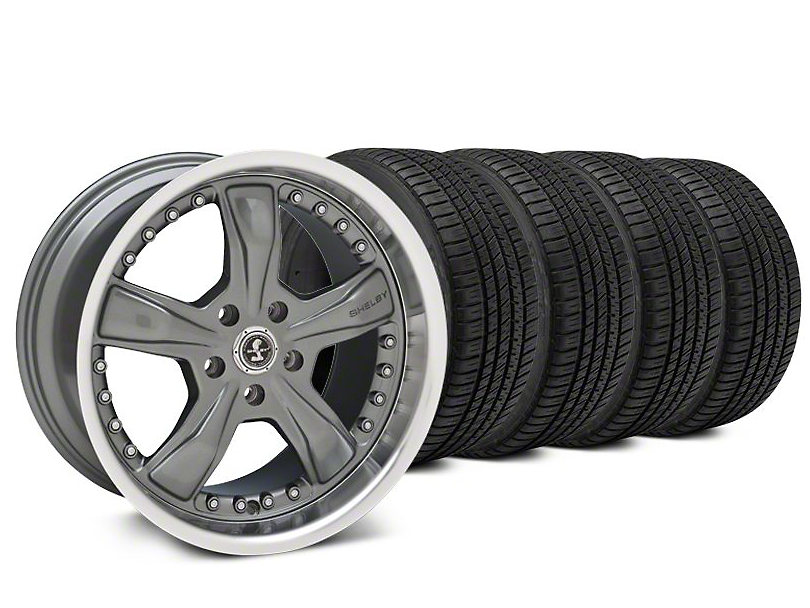 Shelby Razor Gunmetal Wheel & Michelin Pilot Sport A/S 3+ Tire Kit - 20x9 (15-18 All)