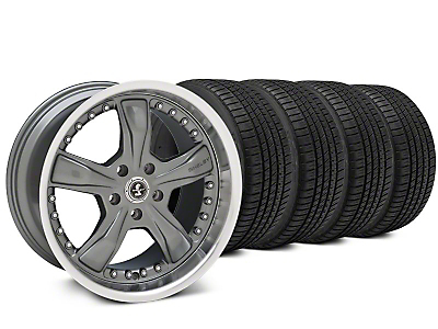 Shelby Razor Gunmetal Wheel & Michelin Pilot Sport A/S 3+ Tire Kit - 20x9 (15-18 All)
