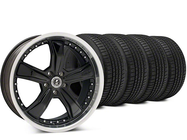 Shelby Razor Black Wheel & Michelin Pilot Sport A/S 3+ Tire Kit - 20x9 (15-17 All)