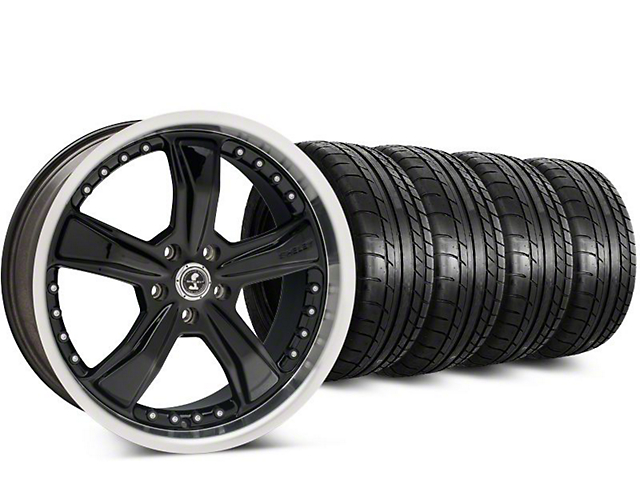 Shelby Razor Black Wheel & Mickey Thompson Street Comp Tire Kit - 20x9 (15-18 GT, EcoBoost, V6)