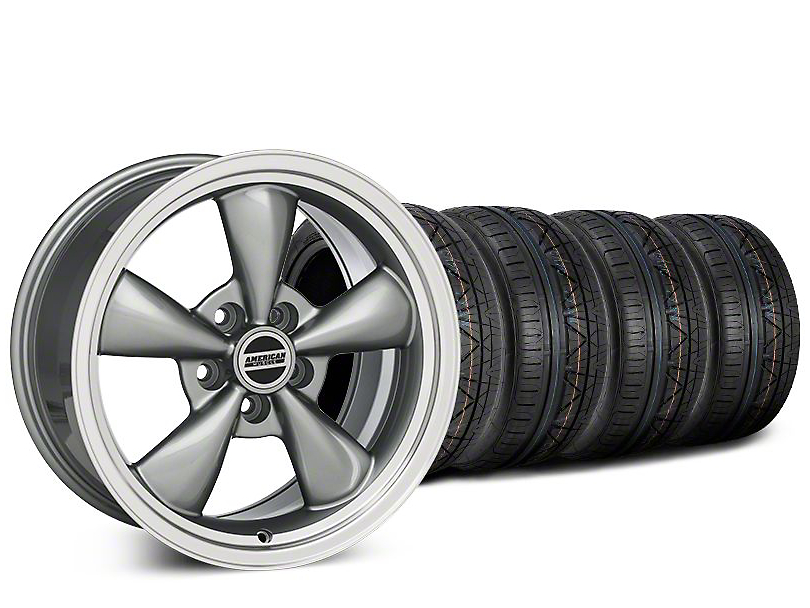 Bullitt Anthracite Wheel & NITTO INVO Tire Kit - 20x8.5 (15-17 EcoBoost, V6)