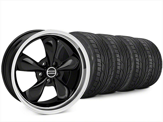 Bullitt Black Wheel & NITTO NT555 G2 Tire Kit - 20x8.5 (15-17 V6)
