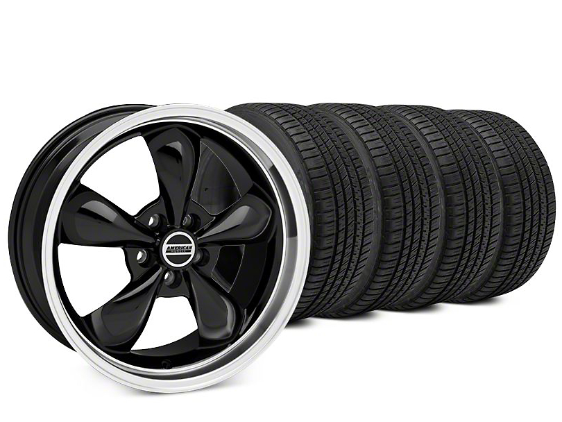 Bullitt Black Wheel & Michelin Pilot Sport A/S 3+ Tire Kit - 20x8.5 (15-19 EcoBoost, V6)