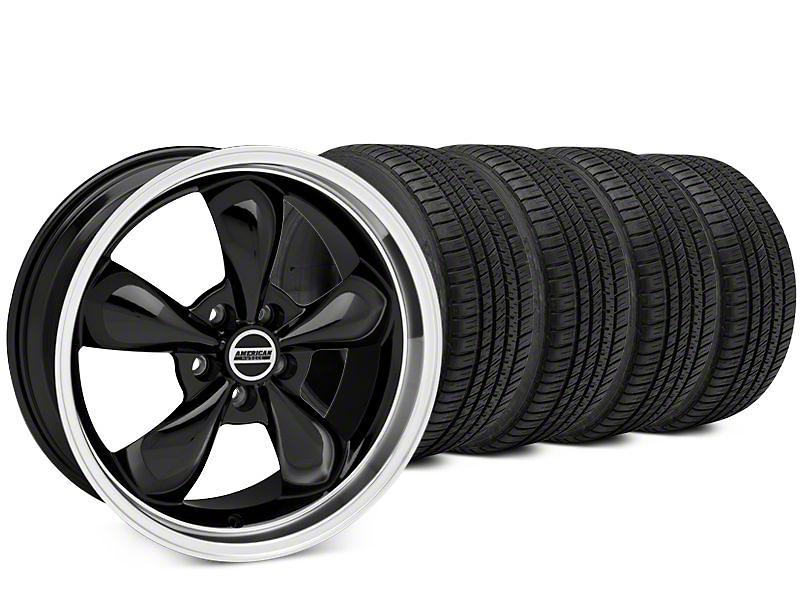 Bullitt Black Wheel & Michelin Pilot Sport A/S 3+ Tire Kit - 20x8.5 (15-19 EcoBoost, V6)