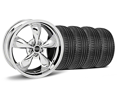 Bullitt Chrome Wheel & Sumitomo HTR Z III Tire Kit - 19x8.5 (15-18 EcoBoost, V6)