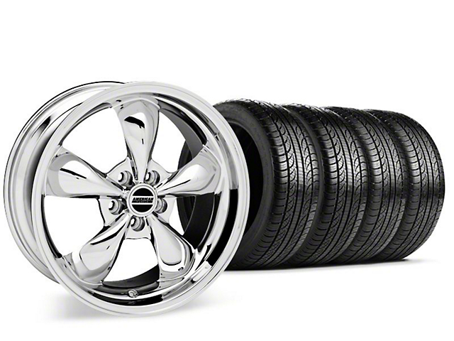 Bullitt Chrome Wheel & Pirelli P-Zero Nero Tire Kit - 19x8.5 (15-18 EcoBoost, V6)