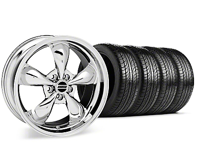 Bullitt Chrome Wheel & Pirelli P-Zero Nero Tire Kit - 19x8.5 (15-17 EcoBoost, V6)