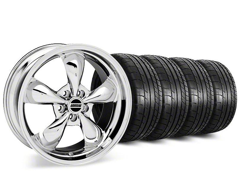 Bullitt Chrome Wheel & Mickey Thompson Street Comp Tire Kit - 19x8.5 (15-19 EcoBoost, V6)