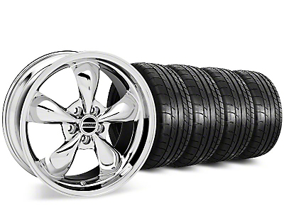 Bullitt Chrome Wheel & Mickey Thompson Street Comp Tire Kit - 19x8.5 (15-17 EcoBoost, V6)