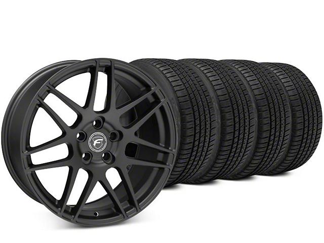 Forgestar F14 Matte Black Wheel & Michelin Pilot Sport A/S 3+ Tire Kit - 19x9 (15-19 All)