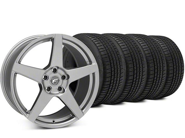 Forgestar CF5 Gunmetal Wheel & Michelin Pilot Sport A/S 3+ Tire Kit - 19x9 (15-18 All)