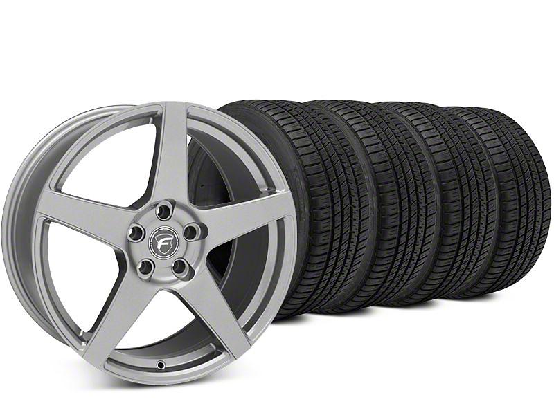 Forgestar CF5 Gunmetal Wheel & Michelin Pilot Sport A/S 3+ Tire Kit - 19x9 (15-19 All)