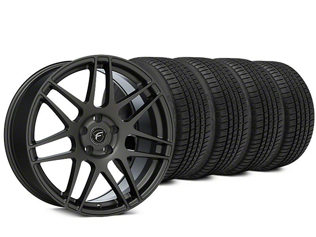 Forgestar F14 Gunmetal Wheel and Michelin Pilot Sport A/S 3+ Tire Kit; 20x9 (15-20 EcoBoost, V6)