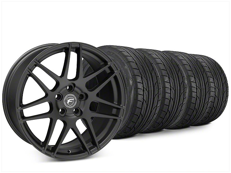 Forgestar F14 Matte Black Wheel & NITTO NT555 G2 Tire Kit - 20x9 (15-17 All)