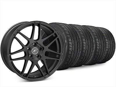 Forgestar F14 Matte Black Wheel & NITTO NT555 G2 Tire Kit - 20x9 (15-19 All)