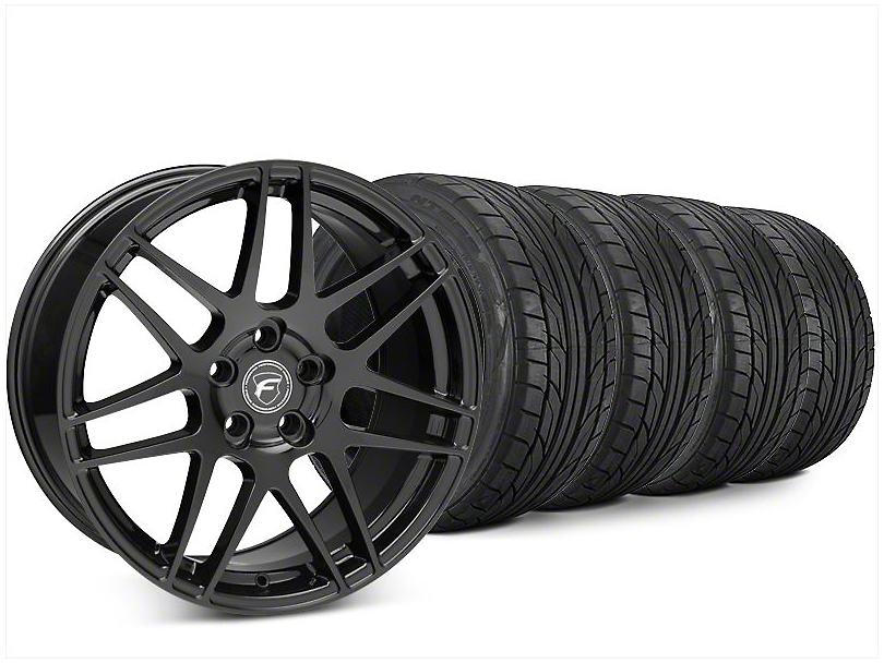 Forgestar F14 Piano Black Wheel & NITTO NT555 G2 Tire Kit - 20x9 (15-17 All)