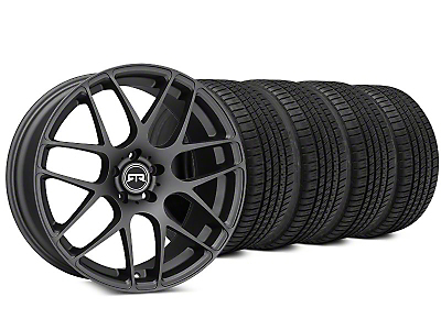 RTR Charcoal Wheel & Michelin Pilot Sport A/S 3+ Tire Kit - 19x8.5 (15-17 All)