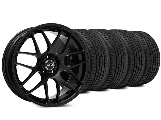 RTR Black Wheel & Michelin Pilot Sport A/S 3+ Tire Kit - 19x8.5 (15-19 All)