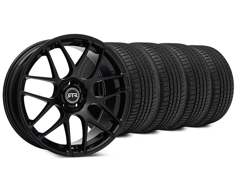 RTR Black Wheel & Michelin Pilot Sport A/S 3+ Tire Kit - 19x8.5 (15-18 All)