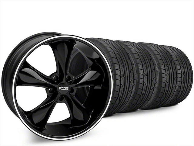 Foose Legend Black Wheel & NITTO NT555 G2 Tire Kit - 20x8.5 (15-17 V6, EcoBoost)