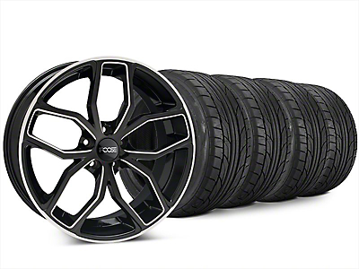 Foose Outcast Black Machined Wheel & NITTO NT555 G2 Tire Kit - 20x8.5 (15-17 All)