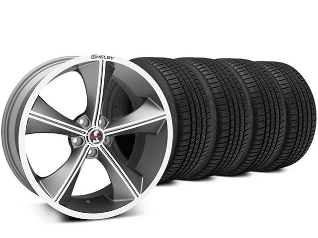 Shelby CS70 Gunmetal Wheel & Michelin Pilot Sport A/S 3+ Tire Kit - 20x9 (15-17 All)