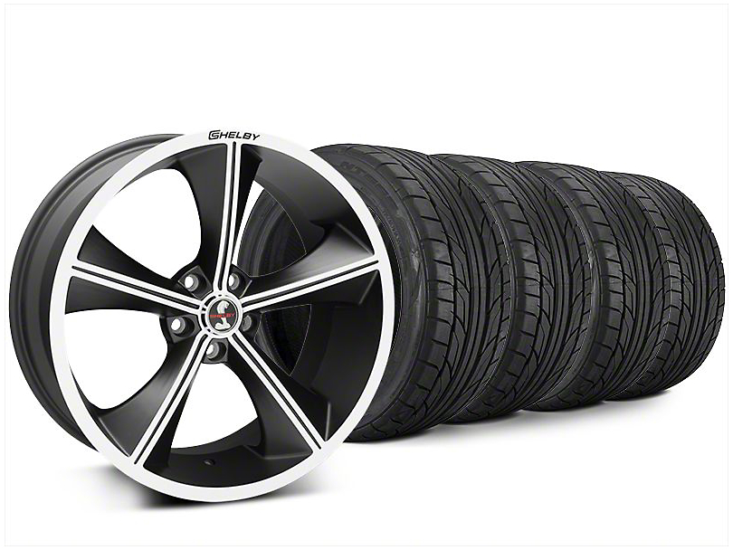 Shelby CS70 Matte Black Wheel & NITTO NT555 G2 Tire Kit - 20x9 (15-17 All)