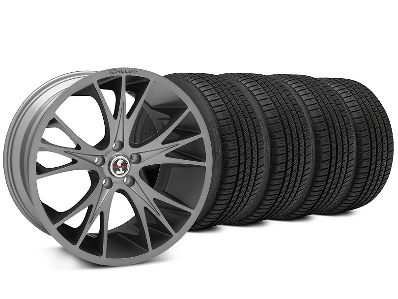 Shelby CS1 Gunmetal Wheel & Michelin Pilot Sport A/S 3+ Tire Kit - 20x9 (15-19 All)