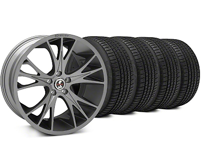 Shelby CS1 Gunmetal Wheel & Michelin Pilot Sport A/S 3+ Tire Kit - 20x9 (15-18 All)