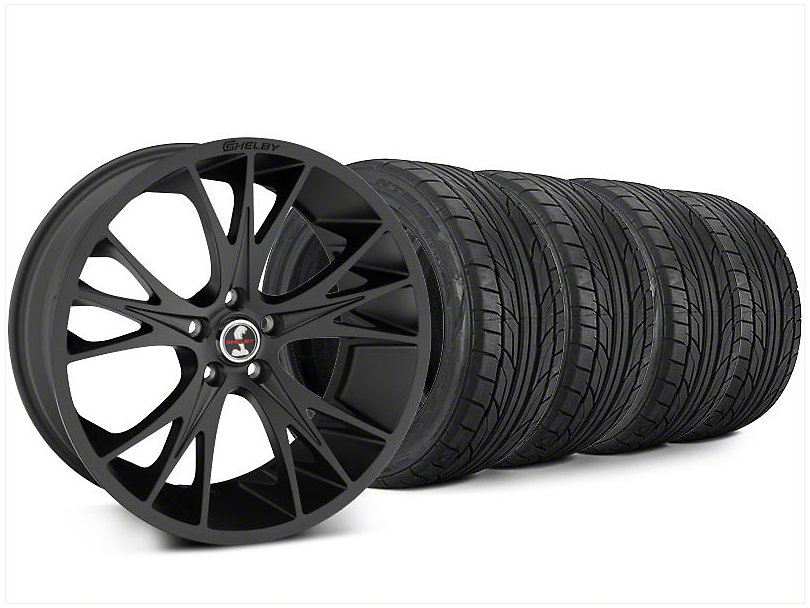 Shelby CS1 Matte Black Wheel & NITTO NT555 G2 Tire Kit - 20x9 (15-17 All)