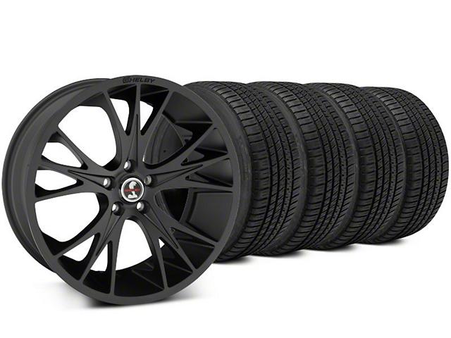 Shelby CS1 Matte Black Wheel & Michelin Pilot Sport A/S 3+ Tire Kit - 20x9 (15-17 All)
