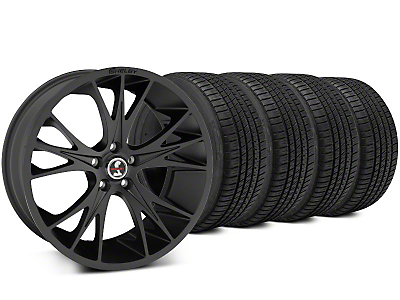 Shelby CS1 Matte Black Wheel & Michelin Pilot Sport A/S 3+ Tire Kit - 20x9 (15-17 All)