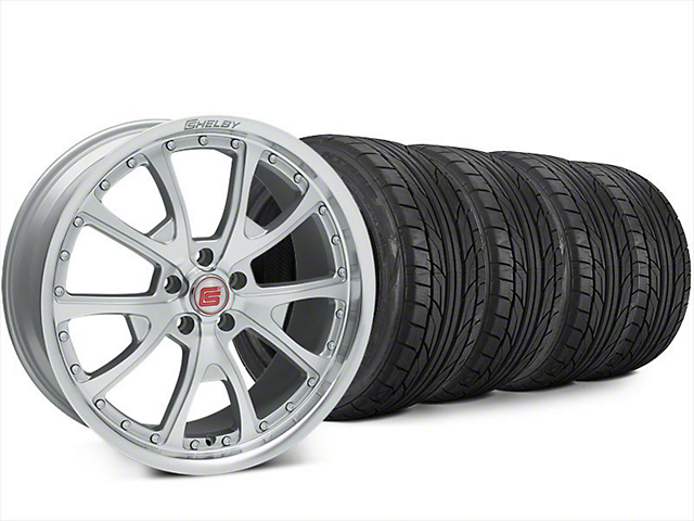 Shelby CS40 Silver Machined Wheel & NITTO NT555 G2 Tire Kit - 20x9 (15-17 All)