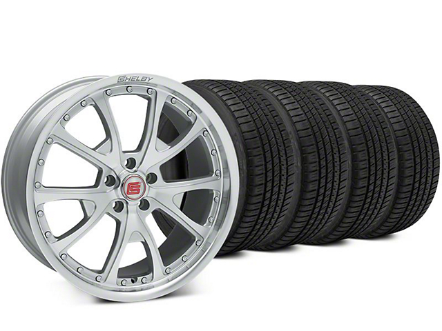 Shelby CS40 Silver Machined Wheel & Michelin Pilot Sport A/S 3+ Tire Kit - 20x9 (15-17 All)