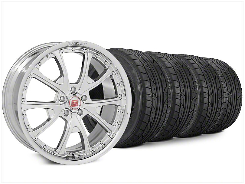 Shelby CS40 Chrome Wheel & NITTO NT555 G2 Tire Kit - 20x9 (15-17 All)