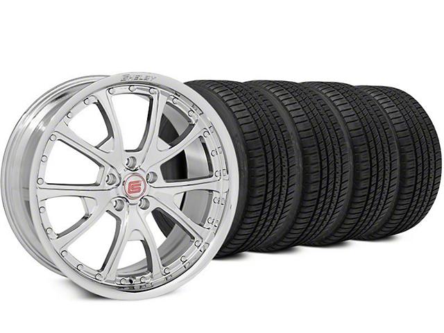 Shelby CS40 Chrome Wheel & Michelin Pilot Sport A/S 3+ Tire Kit - 20x9 (15-17 All)