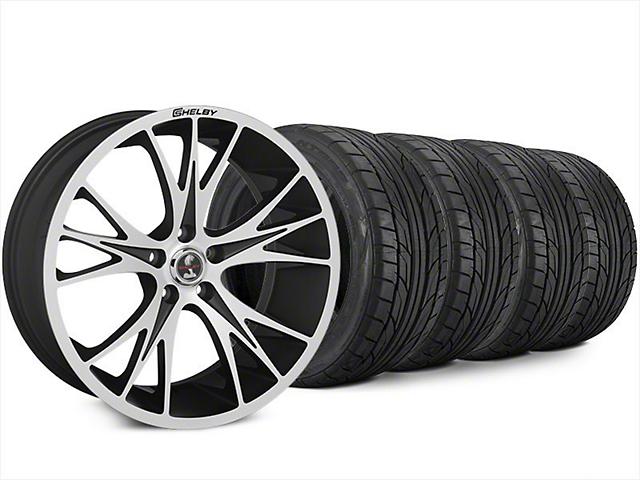 Shelby CS1 Black Machined Wheel & NITTO NT555 G2 Tire Kit - 20x9 (15-17 All)