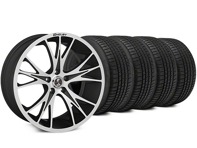 Shelby CS1 Black Machined Wheel & Michelin Pilot Sport A/S 3+ Tire Kit - 20x9 (15-17 All)
