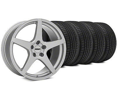 MMD Sinn Silver Wheel & Michelin Pilot Sport A/S 3+ Tire Kit - 19x8.5 (15-18 All)