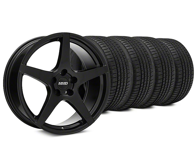 MMD Sinn Black Wheel & Michelin Pilot Sport A/S 3+ Tire Kit - 20x8.5 (15-17 All)