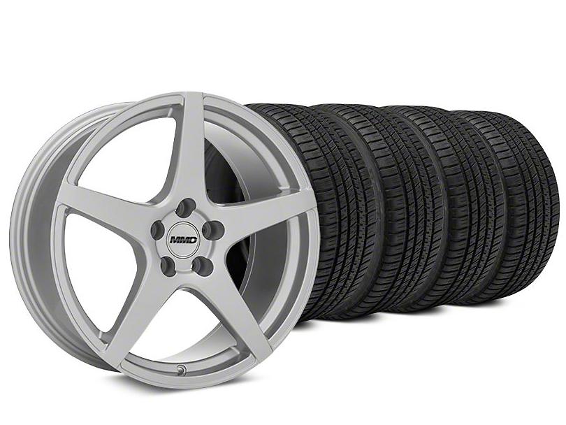 MMD Sinn Silver Wheel & Michelin Pilot Sport A/S 3+ Tire Kit - 20x8.5 (15-18 All)