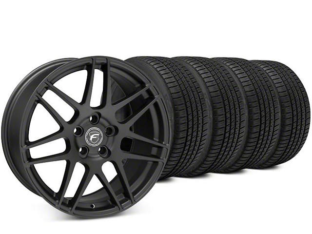 Forgestar F14 Matte Black Wheel & Michelin Pilot Sport A/S 3+ Tire Kit - 19x9.5 (15-17 All)