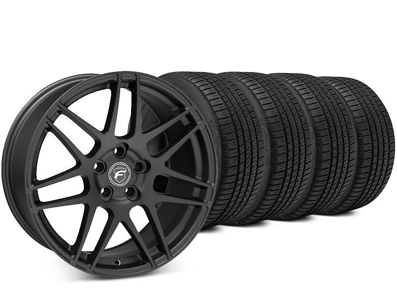Forgestar F14 Matte Black Wheel & Michelin Pilot Sport A/S 3+ Tire Kit - 19x9.5 (15-18 All)