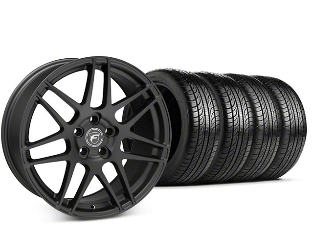 Forgestar F14 Matte Black Wheel & Pirelli P-Zero Nero Tire Kit - 19x9.5 (15-17 All)