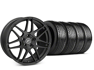 Forgestar F14 Matte Black Wheel & Pirelli P-Zero Nero Tire Kit - 19x9.5 (15-18 GT, EcoBoost, V6)
