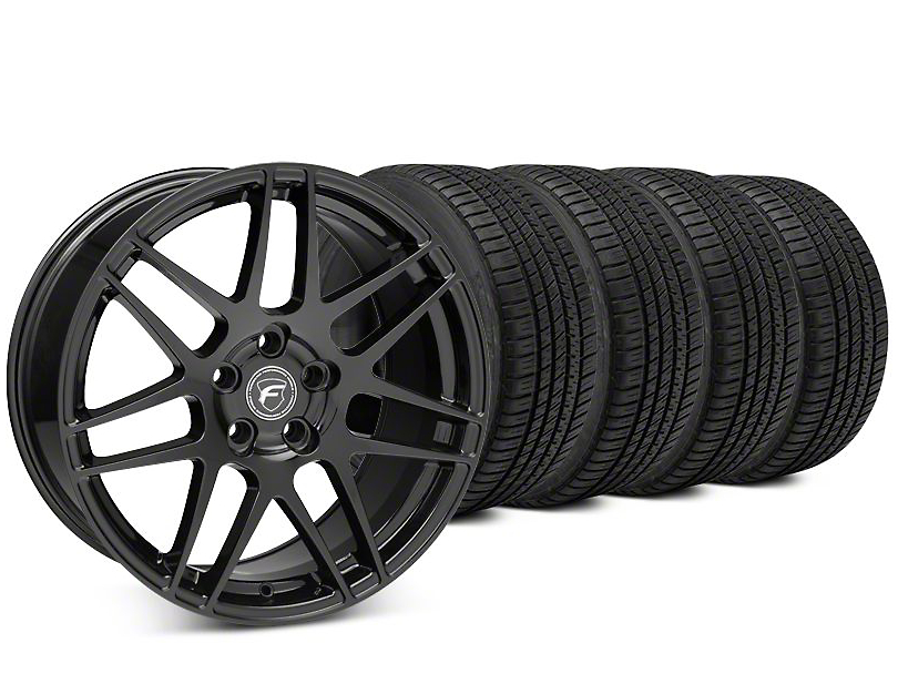 Forgestar F14 Piano Black Wheel & Michelin Pilot Sport A/S 3+ Tire Kit - 19x9.5 (15-19 All)