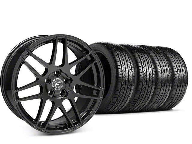 Forgestar F14 Piano Black Wheel & Pirelli P-Zero Nero Tire Kit - 19x9.5 (15-18 All)
