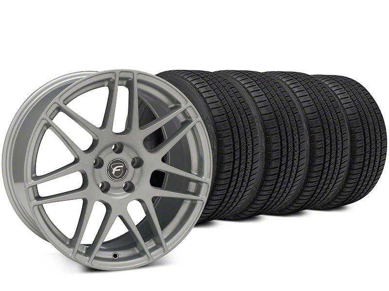 Forgestar F14 Silver Wheel & Michelin Pilot Sport A/S 3+ Tire Kit - 19x9.5 (15-17 All)